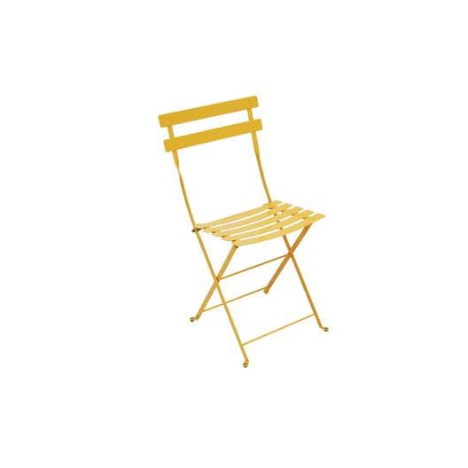 Chaise de jardin en acier Bistro miel | Leroy Merlin