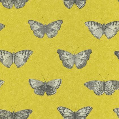Papier Peint Papillons Jaune Intisse Street Art Leroy Merlin