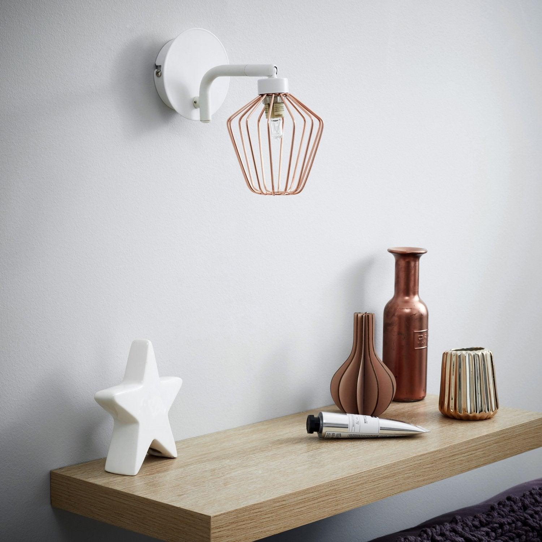 Trendy tout une applique en cuivre pour donner du caractre Applique murale salle de bain design