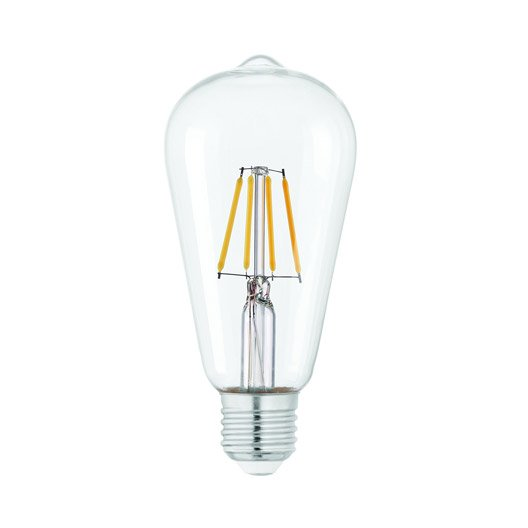 ampoule filament led edison e27 verre clair 4w 470 lm. Black Bedroom Furniture Sets. Home Design Ideas