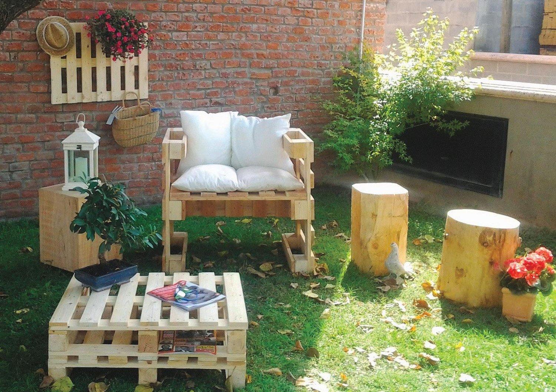 Un salon de jardin en palette | Leroy Merlin