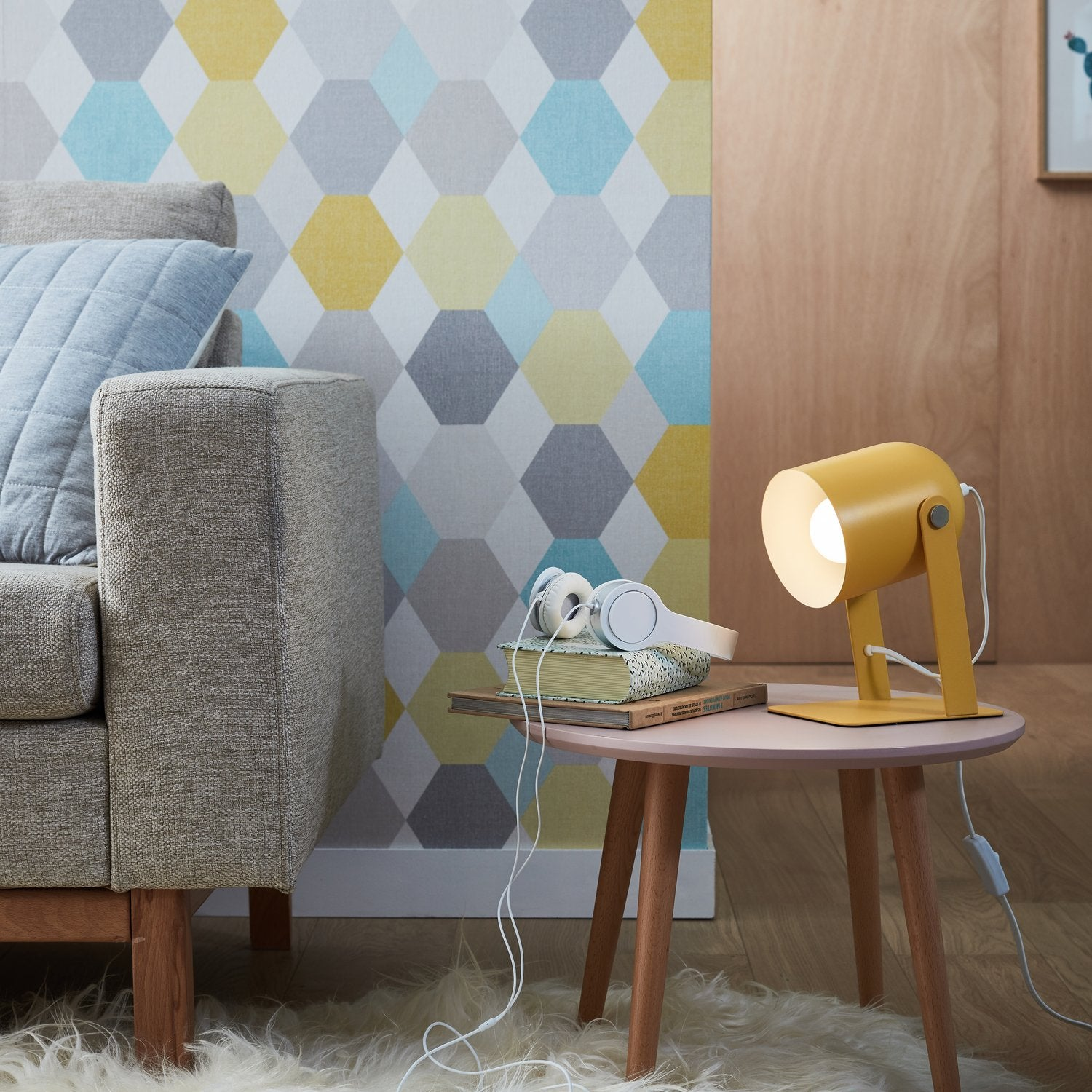 Une Lampe A Poser Jaune Au Style Scandinave Leroy Merlin