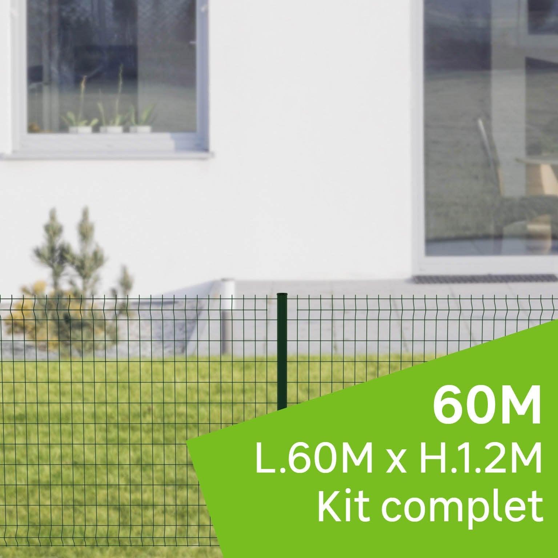kit grillage rigide 60 m sur platine cerista vert h12