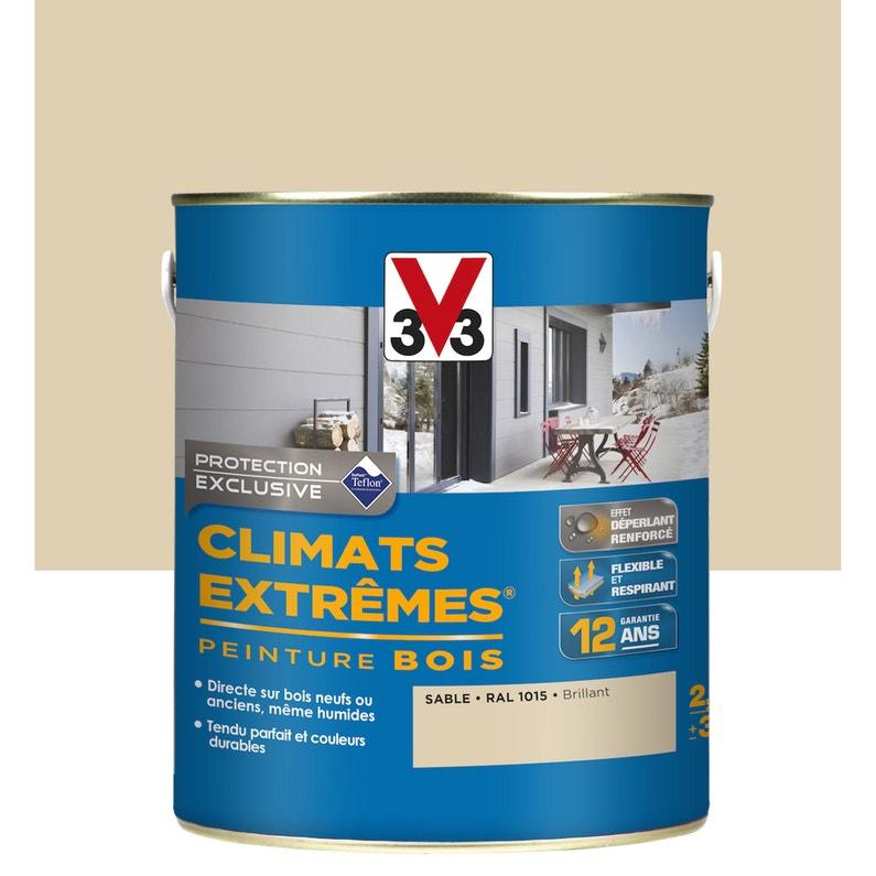 Peinture Bois Extérieur Climats Extrêmes V33 Sable 05 L