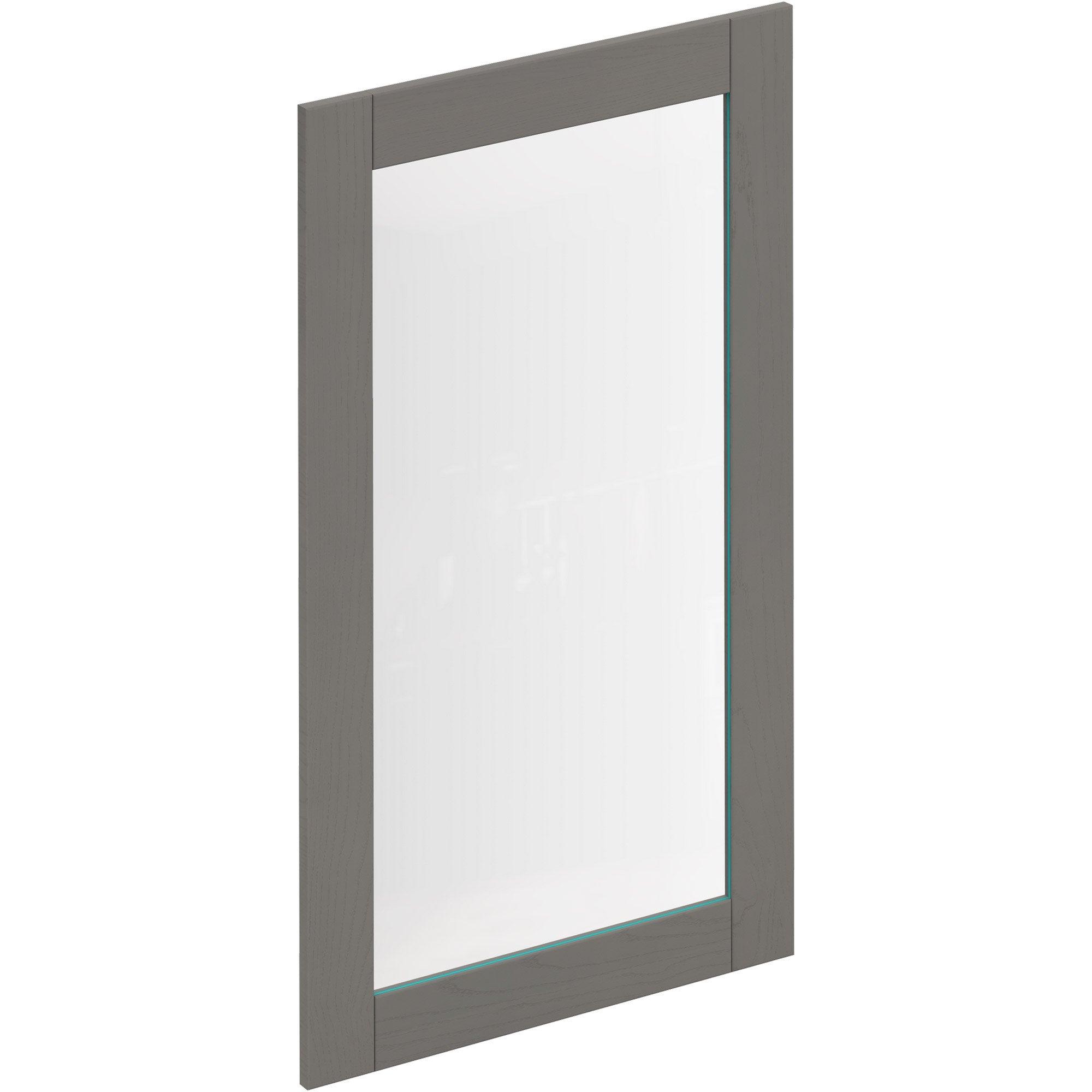 Porte de cuisine vitr e boston gris delinia id x cm leroy merlin - Porte de cuisine vitree ...