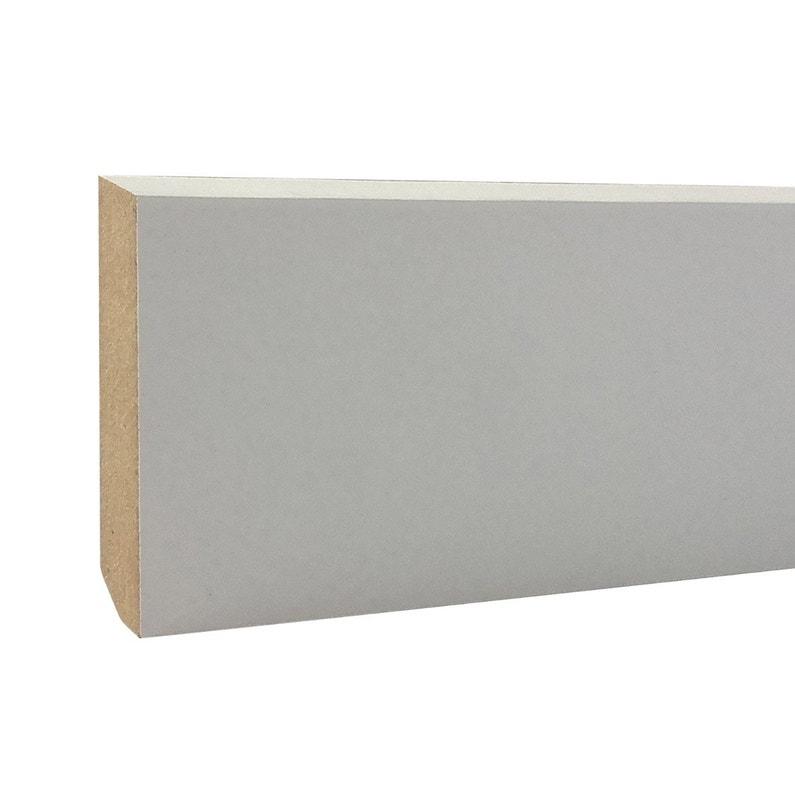 Plinthe Mdf Revêtu Papier Blanc Carrée H9 X L24 M X Ep68 Mm