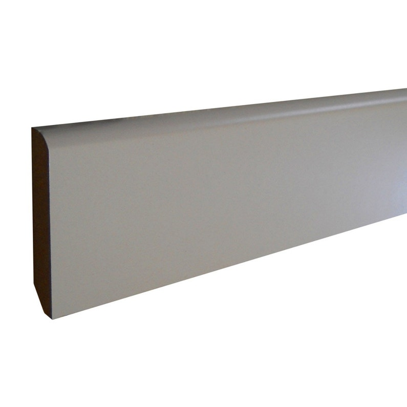 Plinthe Mdf Revêtu Papier Blanc Arrondie H 5 X Ep 1 Cm L 2 4 M