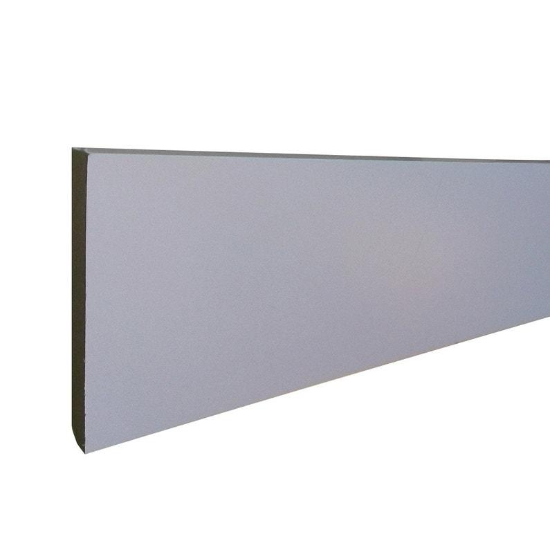 Plinthe Mdf Revêtu Papier Blanc Carrée H12 X L24 M X Ep118 Mm