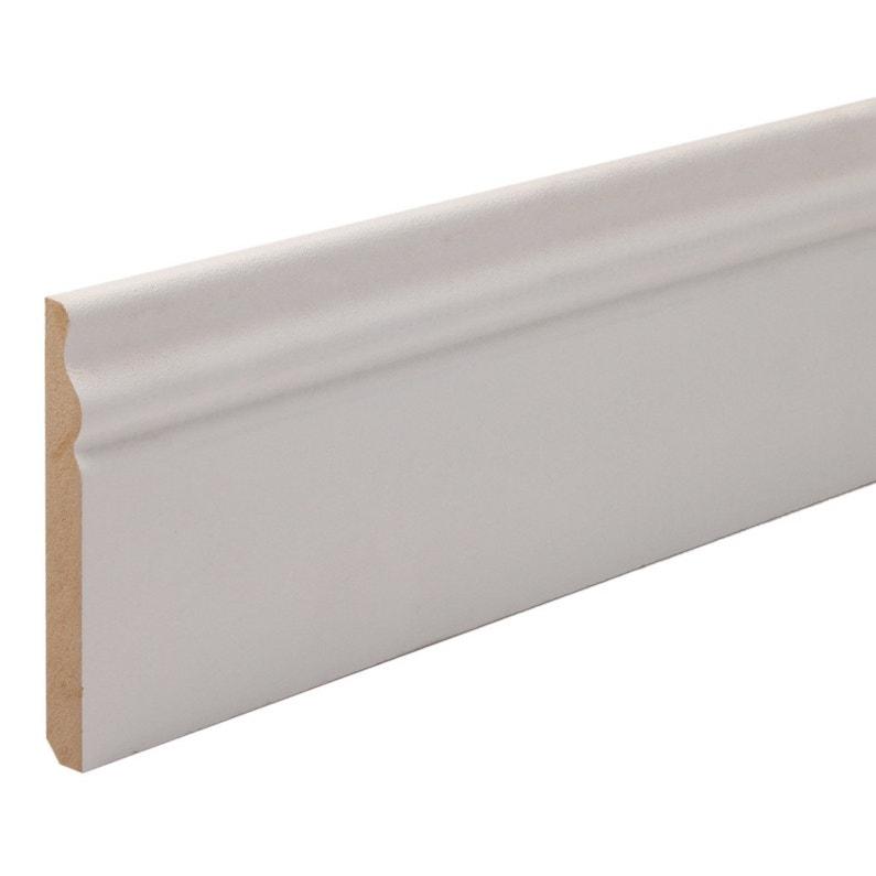Plinthe Mdf Revêtu Papier Blanc H18 X L24 M X Ep118 Mm