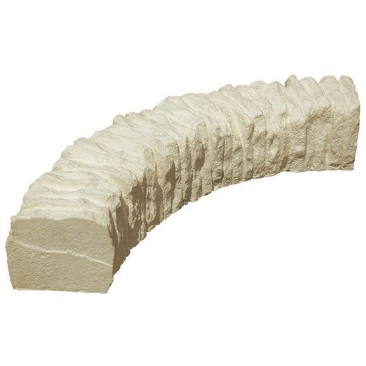 bordure courbe c vennes pierre reconstitu e ton pierre x cm leroy merlin. Black Bedroom Furniture Sets. Home Design Ideas