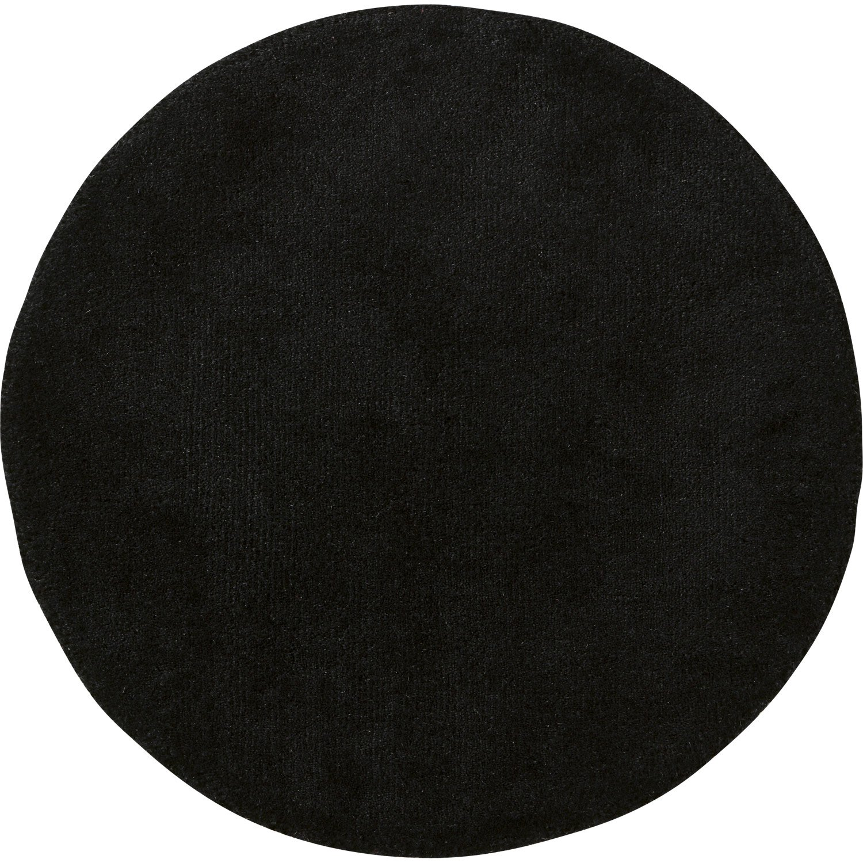 tapis noir rond noir mm leroy merlin. Black Bedroom Furniture Sets. Home Design Ideas