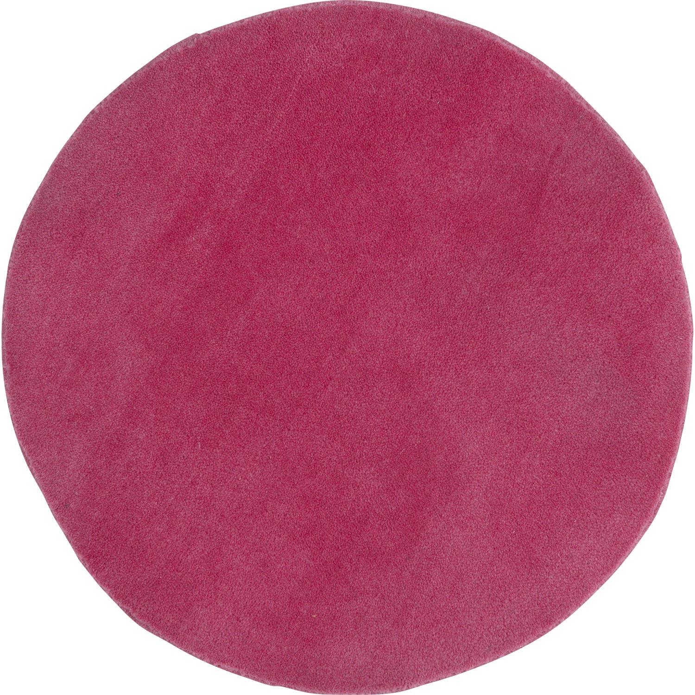 Tapis rose Rond rose, Diam.700 mm | Leroy Merlin