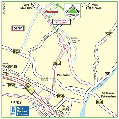 Plan d'accès au magasin Leroy Merlin de Gennevilliers