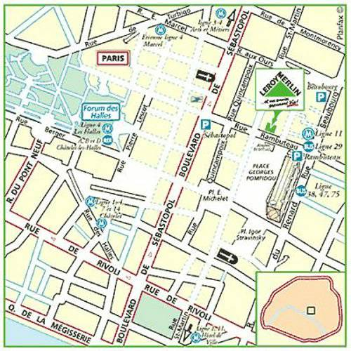 Plan d'accès au magasin Leroy Merlin de Saint denis (st denis-la-plaine)