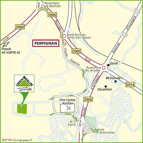 Plan d'accès au magasin Leroy Merlin de Toulouse (balma)