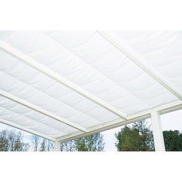 Store polyester blanc l.322 x L.407 cm
