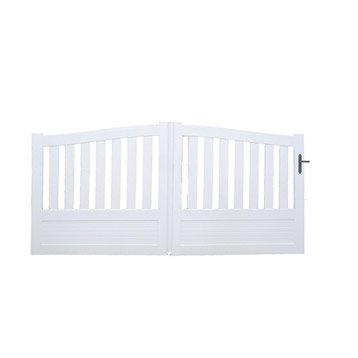 Portail portail aluminium bois fer pvc battant for Portail pvc coulissant 4m