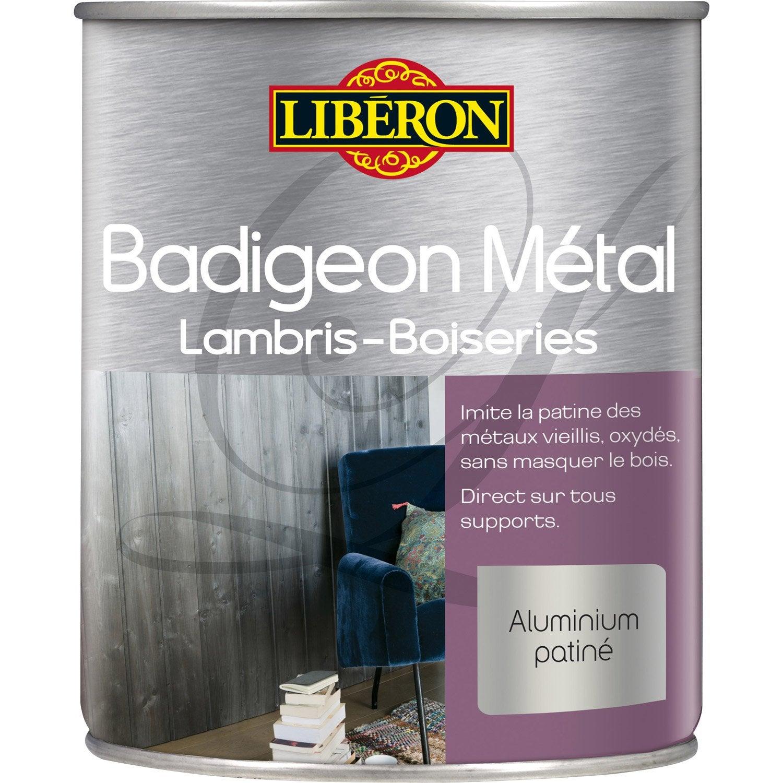 Lasure Intérieure Poutre Et Lambris Badigeon Métal LIBERON, 1 L, Acier  Lustré