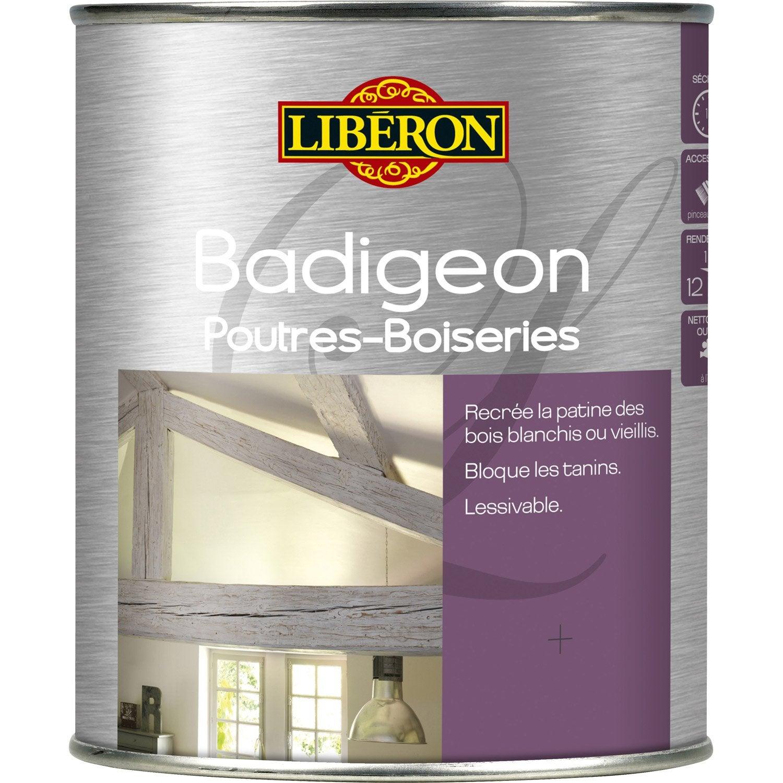 Lasure Intérieure Poutre Et Lambris Badigeon LIBERON, 2.5 L, Brume