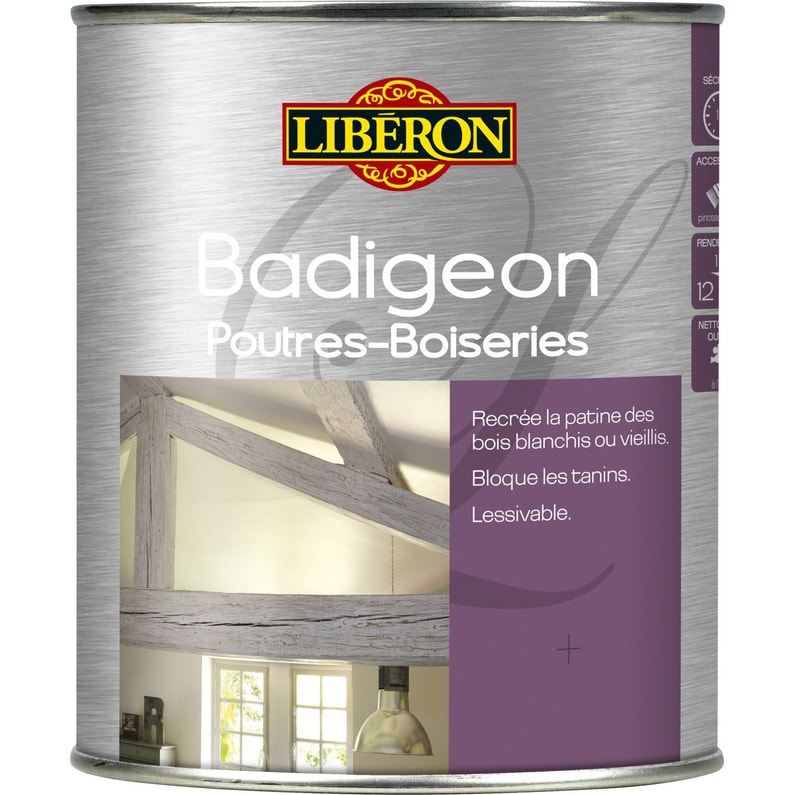 Lasure Interieure Poutre Et Lambris Badigeon Liberon 2 5 L Brume
