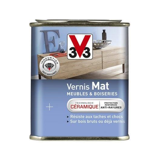 Vernis meuble et objets v33 m t blanc patine for Vernis blanc pour meuble