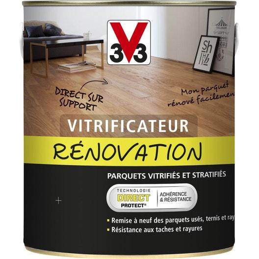 vitrificateur parquet vitrifcateur renovation v33 2 5 l incolore leroy merlin. Black Bedroom Furniture Sets. Home Design Ideas