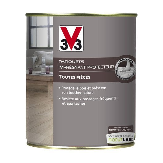 impr gnant parquet protect 39 activ v33 l incolore leroy merlin. Black Bedroom Furniture Sets. Home Design Ideas