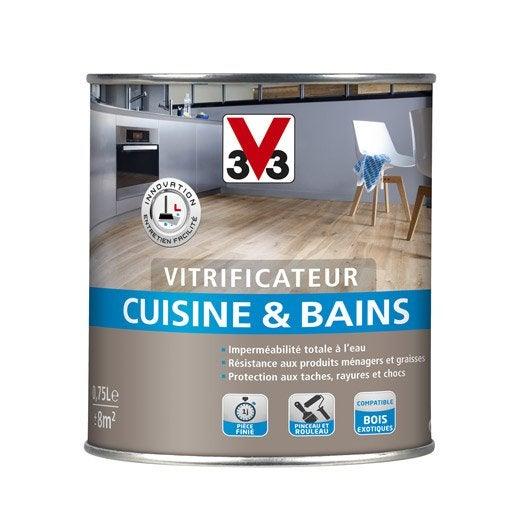 Vitrificateur cuisine et bain v33 incolore l for Peinture v33 meuble cuisine leroy merlin