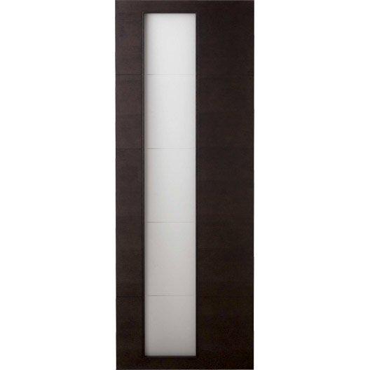 Porte coulissante fr ne plaqu marron tokyo artens 204 x 73 cm leroy merlin - Cout porte coulissante ...