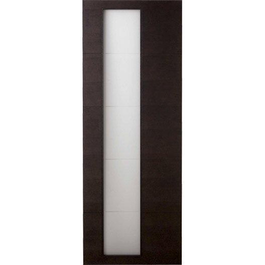 porte coulissante fr ne plaqu marron tokyo artens 204 x 73 cm leroy merlin. Black Bedroom Furniture Sets. Home Design Ideas