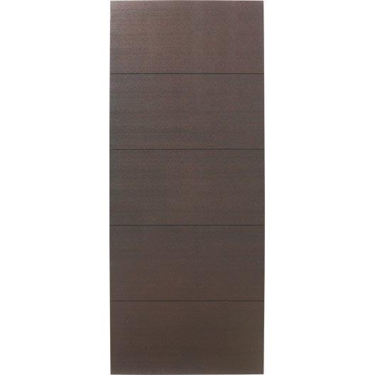 Porte coulissante fr ne plaqu marron tokyo artens 204 x for Porte interieure vitree 63 cm