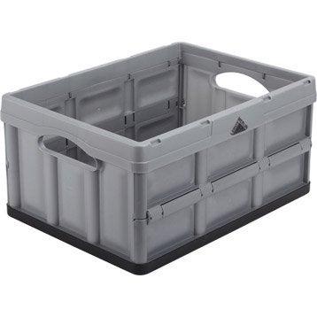 Casier pliable Ursus plastique , l.47.5 x P.35.2 x H.23.5 cm