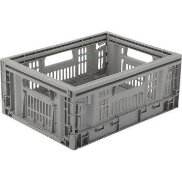 Casier pliable Teknika plastique , l.40 x P.30 x H.16.9 cm