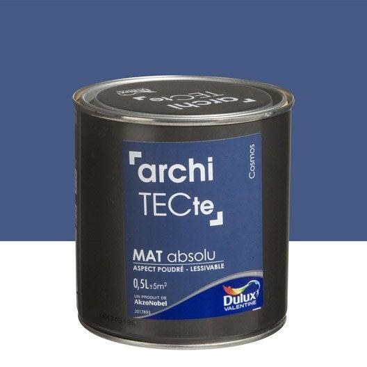 Peinture multisupports architecte dulux valentine bleu cosmos 0 5 l leroy merlin for Peinture couleur zinc