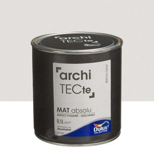 Peinture gris b ton brut dulux valentine architecte 0 5 l for Peinture aspect beton