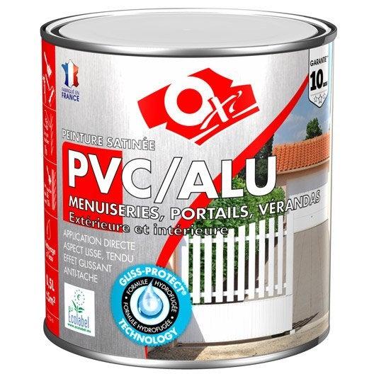 Peinture pvc aluminium galva ext rieur oxy oxytol silice 0 5 l leroy merlin for Peinture radiateur couleur aluminium