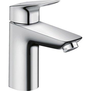 Mitigeur lavabo chromé, HANSGROHE Mycube l