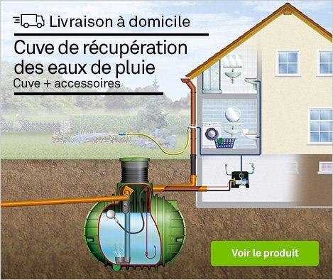 HOP - Cuve + accessoires récupération eau de pluie à enterrer Cristall GARANTIA, 1600l - 70855484