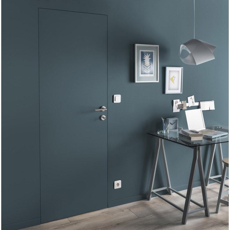 bloc porte invisible valse blanc x cm poussant. Black Bedroom Furniture Sets. Home Design Ideas