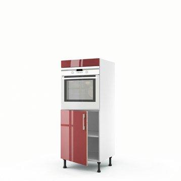 meuble de cuisine rouge delinia grenade leroy merlin. Black Bedroom Furniture Sets. Home Design Ideas
