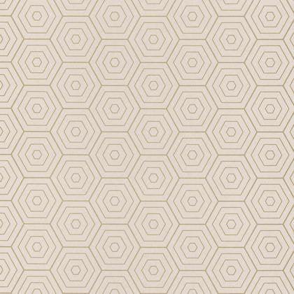 Papier Peint Hexagone Beige Clair Et Or Intisse Shine Leroy Merlin