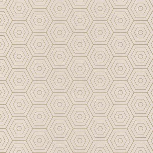 papier peint hexagone beige clair et or intiss shine. Black Bedroom Furniture Sets. Home Design Ideas
