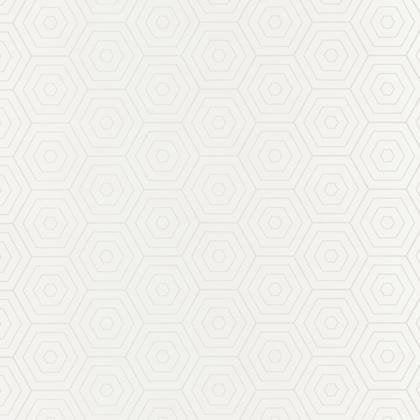 Papier peint hexagone blanc et blanc intissé shine   Leroy Merlin