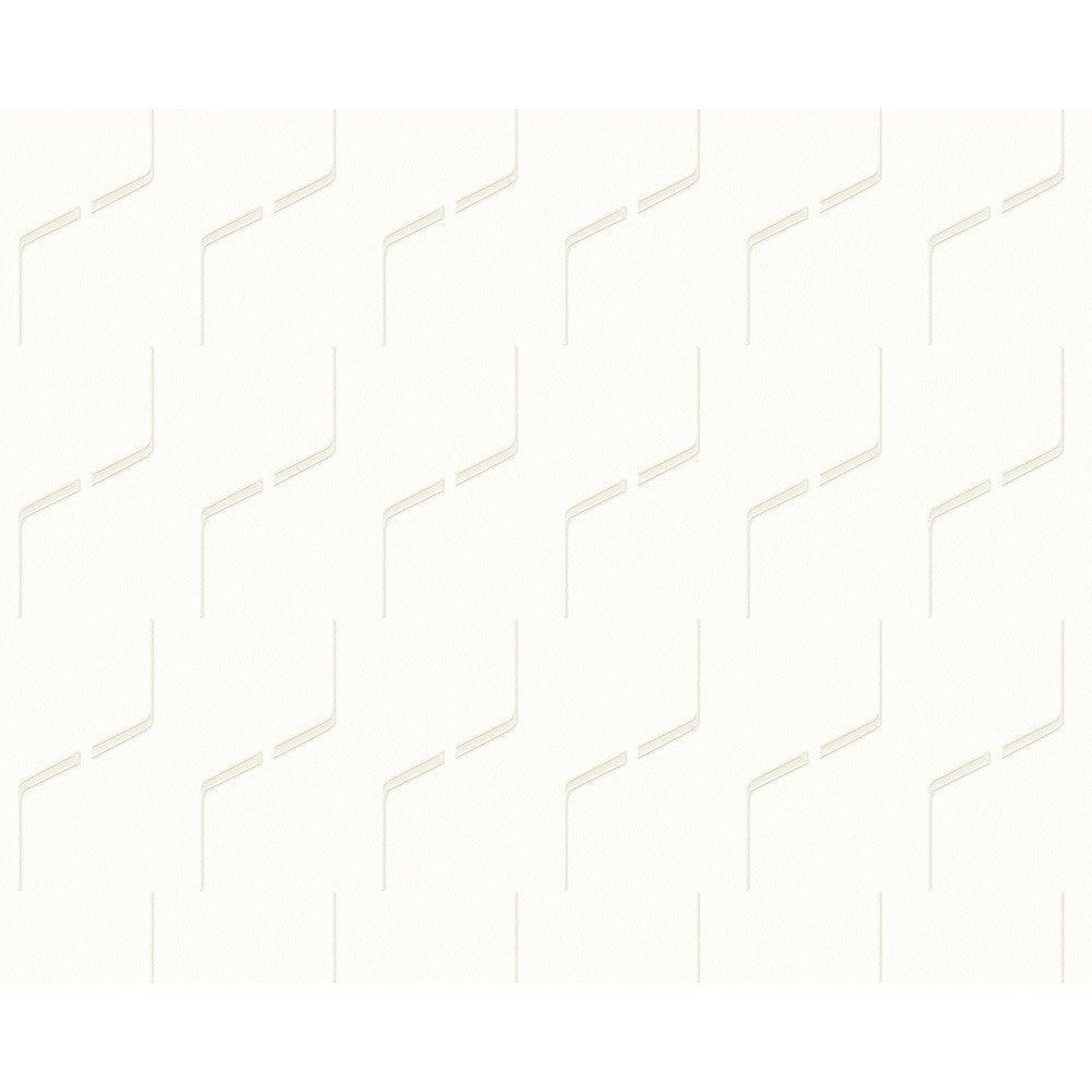 papier peint g om trique blanc et gris fonc intiss ap 2000 leroy merlin. Black Bedroom Furniture Sets. Home Design Ideas