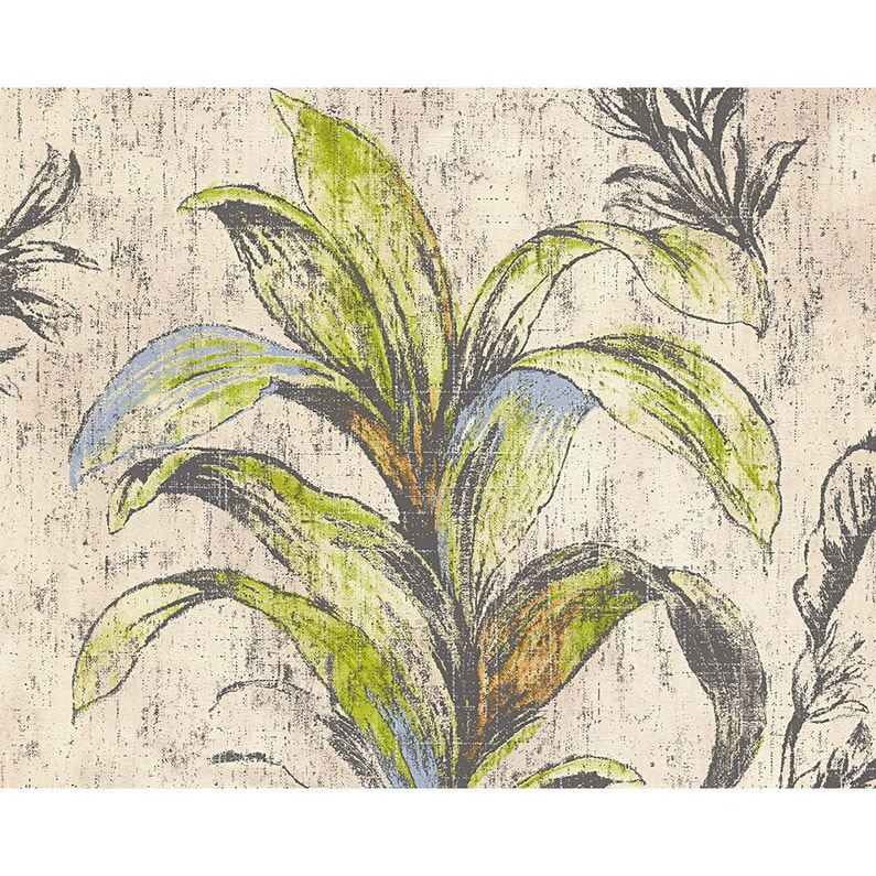 Papier Peint Vinyle Expanse Mayfair Blanc Bleu Vert Orange Gris