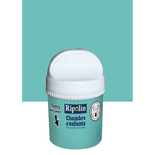 Ripolin leroy merlin for Peinture bleu turquoise chambre