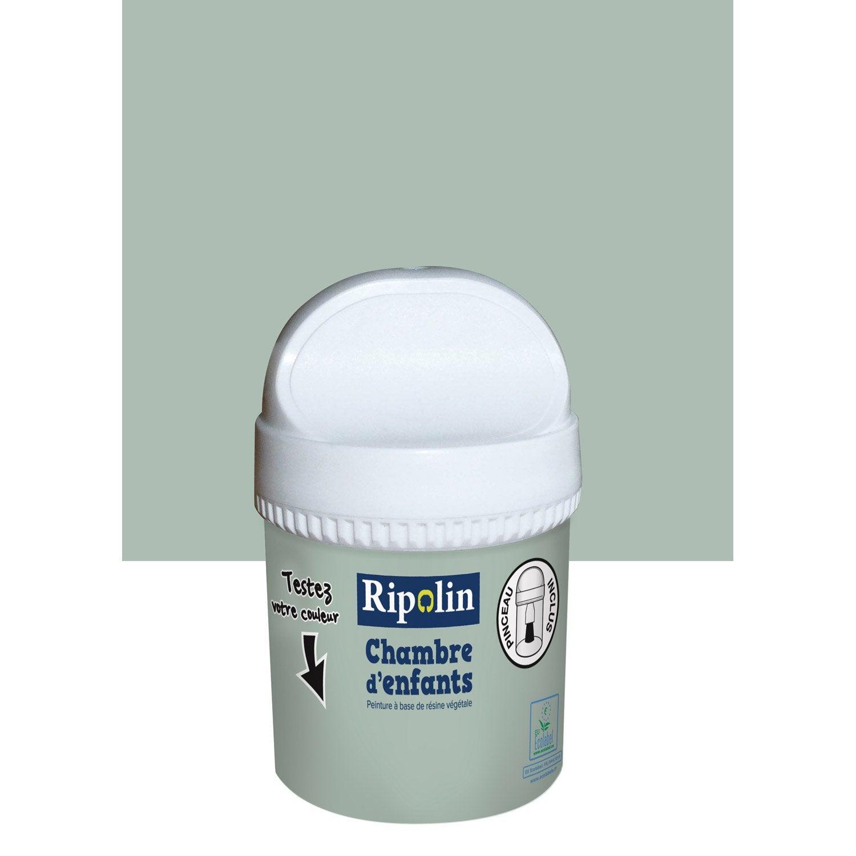 Testeur peinture vert d 39 eau satin ripolin chambre enfants for Salon vert d eau