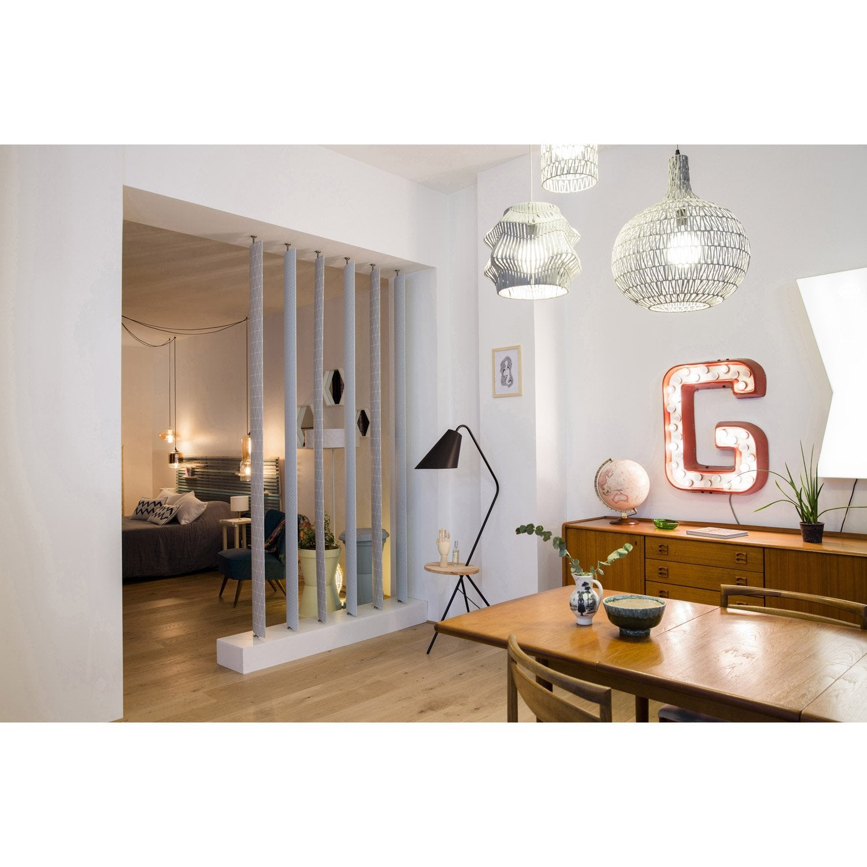 lame orientable boomerang mdf rev tu feuille d cor effet bois blanchi leroy merlin. Black Bedroom Furniture Sets. Home Design Ideas