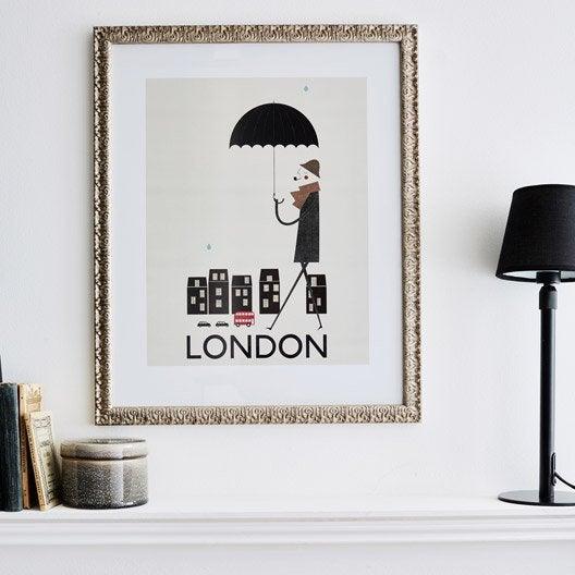 cadre bochet 50 x 70 cm argent leroy merlin. Black Bedroom Furniture Sets. Home Design Ideas