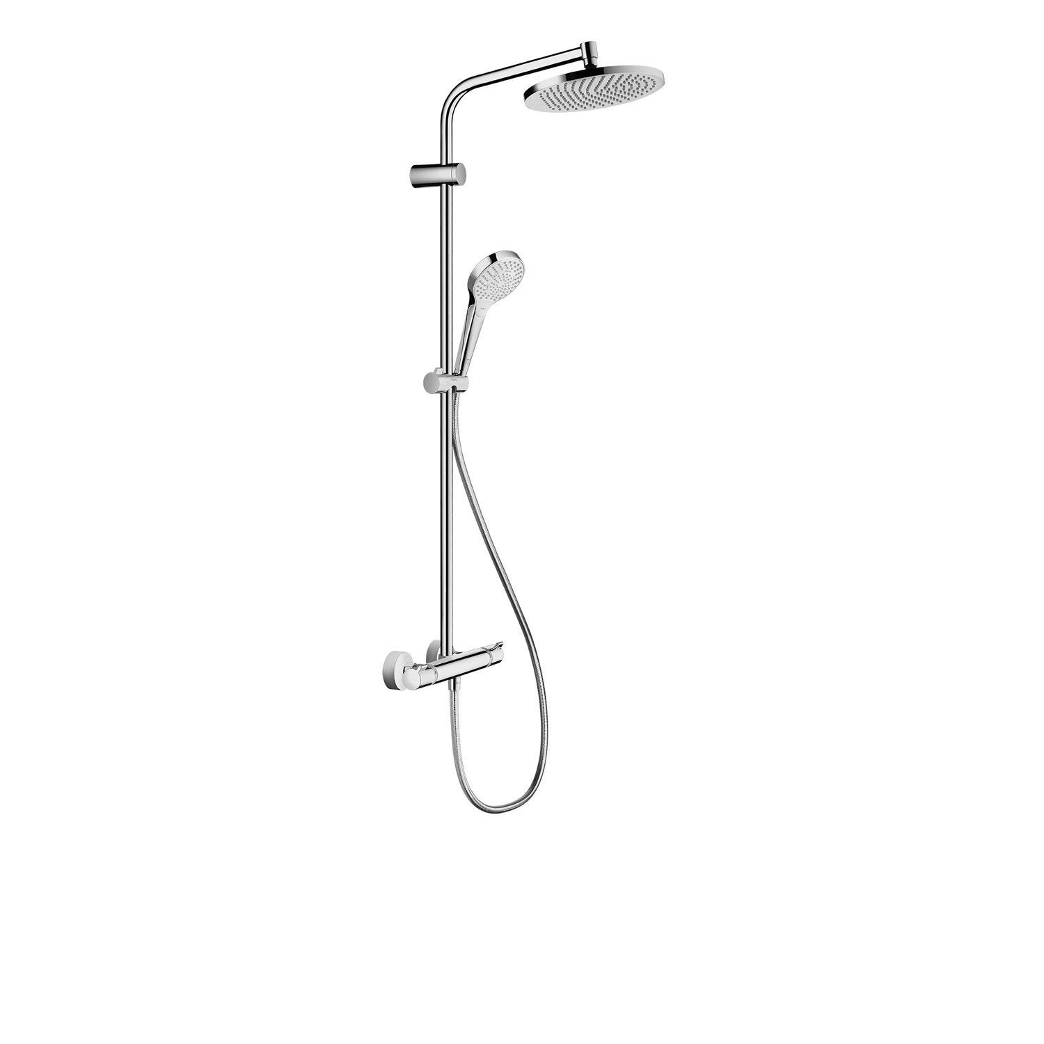 colonne de douche avec robinetterie hansgrohe lmh s 240 showerpipe leroy merlin. Black Bedroom Furniture Sets. Home Design Ideas